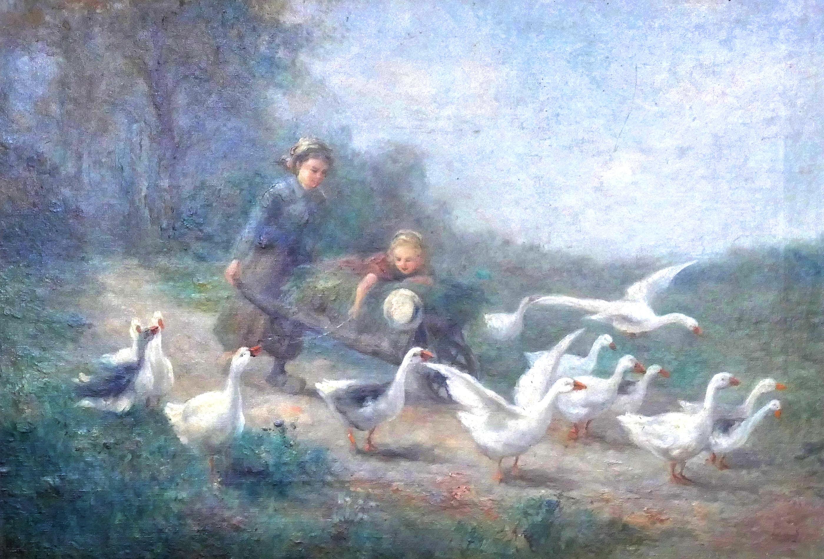 07. Two Girls Herding Geese