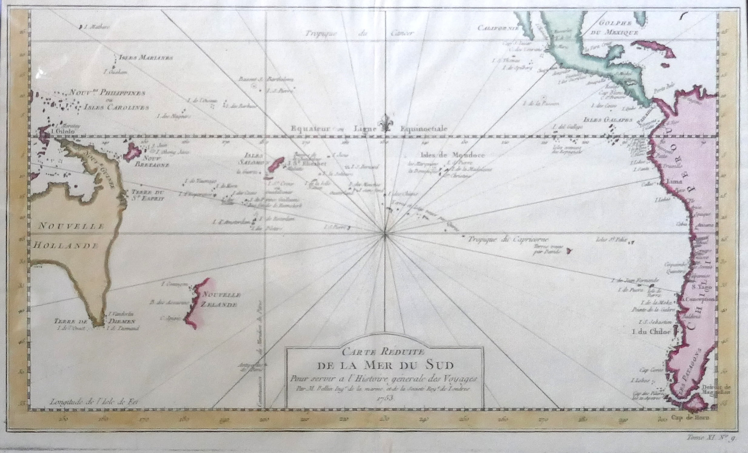 35. 1754 Map of the South Pacific