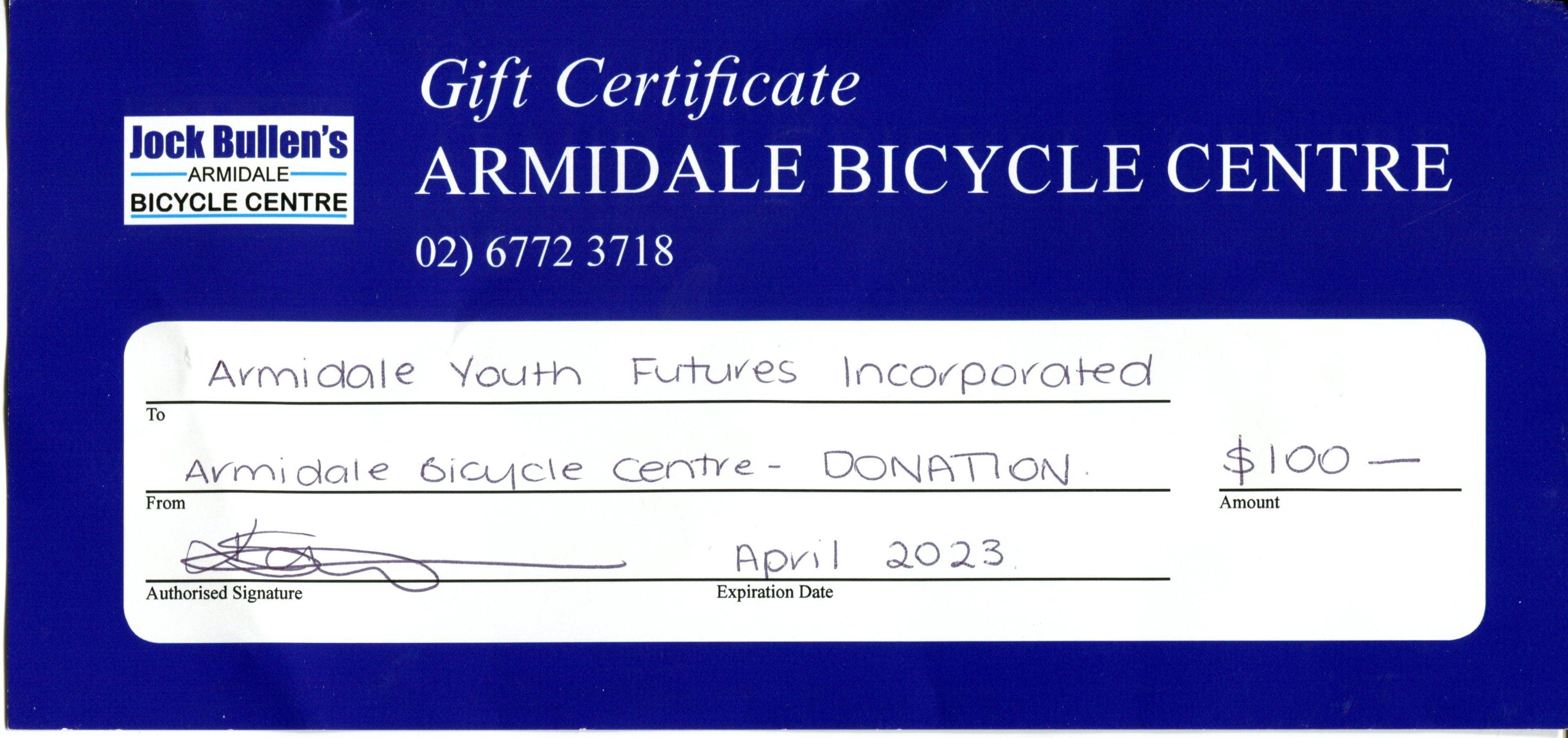 Armidale Bicycle back